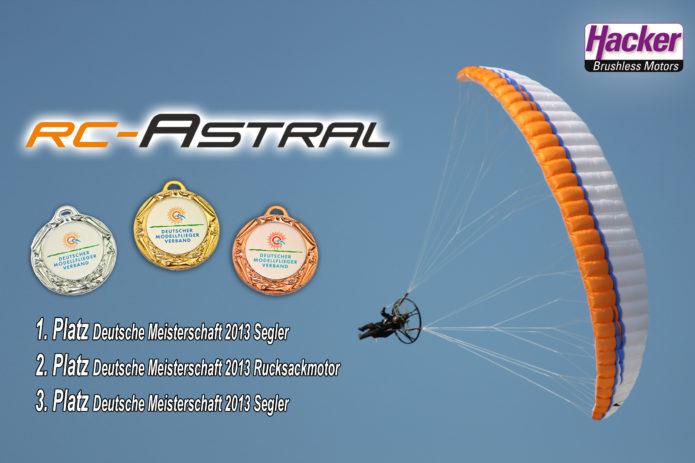 Der RC-Astral gewinnt in der Klasse Segler bis 1,9m² souverän. Die meisten Piloten haben in dieser Klasse den RC-Astral eingesetzt.
