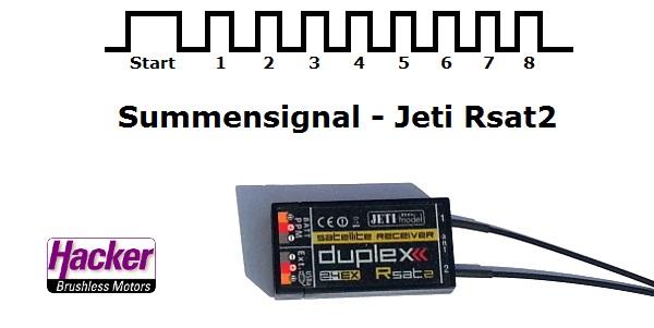 Jeti Summensignal mit DJI Multikoptersteuerungen