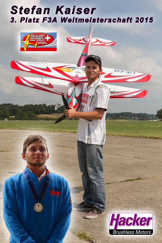 F3A Weltmeisterschaft 2015: Stefan Kaiser 3. Platz, Robin Trumpp in den TopTen