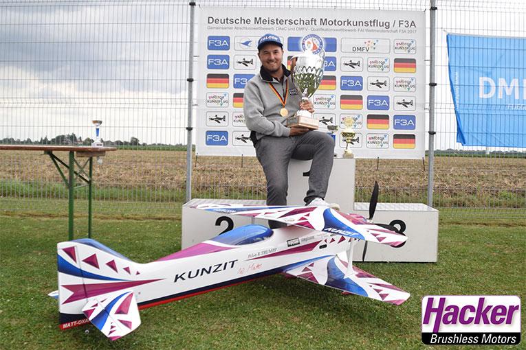 Robin Trumpp zum 5. Mal in Folge Deutscher Meister der Klasse F3A
