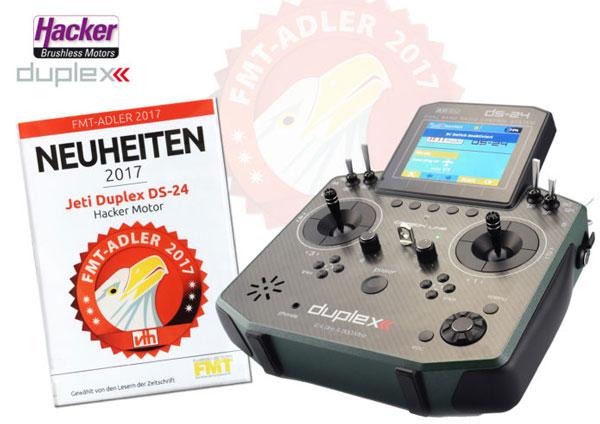 FMT-ADLERWAHL:  Hacker JETI/DUPLEX Fernsteuerung DS-24 zur Neuheit des Jahres gewählt