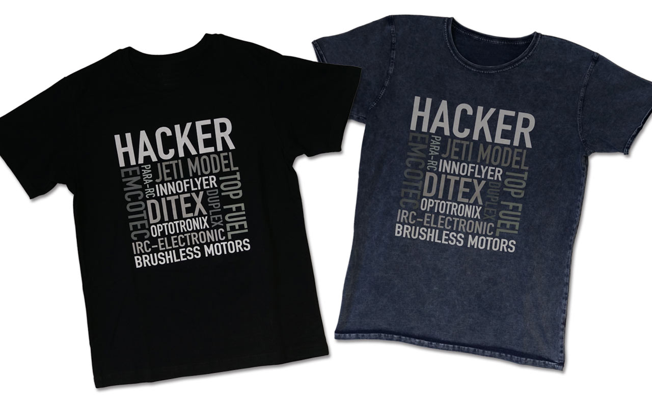 Neue T-Shirts mit den Brands von Hacker Motor | New T-Shirts with the Brands of Hacker Motor